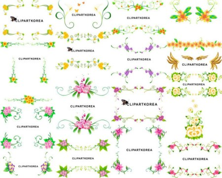 Vector-flowers-and-lace-pattern-450x360