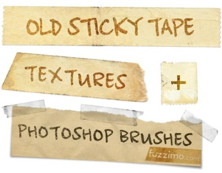 fzm-Old-Sticky-Tape-Textures-Photoshop-Brushes-01-450x351
