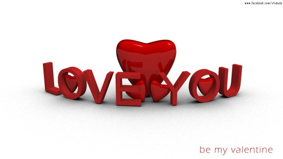 Love You - Be My Valentine Greeting Card