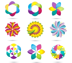 Spiral Pack Colourful Vector