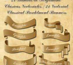 Free Classic Banners Vector Image