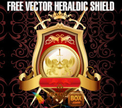 Free Heraldic Shield Vector Art
