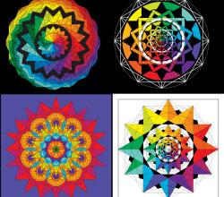Vector Colorful Geometric Harmonies