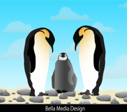 Penguins Free Vector Image