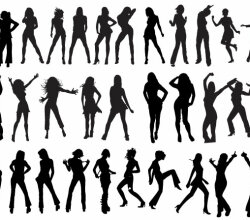 Vector Dancers Silhouettes