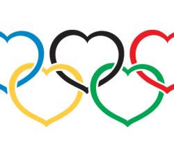 Vector Heart Olympics Symbol