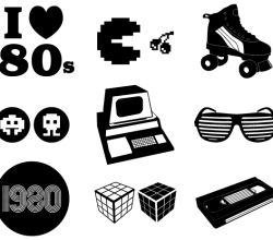 Free Vector Retro 80's Elements