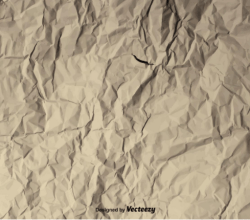 Vector Background of a Crumpled Paper Texture Free Vector