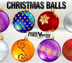 Christmas Ornaments Vector Free