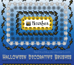 Halloween Illustrator Brushes