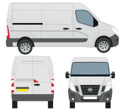 Vector Nissan NV400 Van Outline