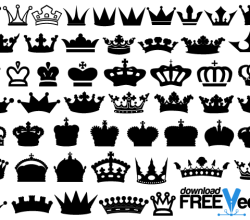 Crowns Vector Art
