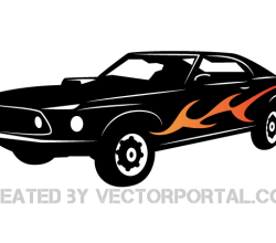 Vector Sports Car Image