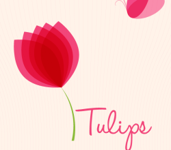 Tulips Background Design Vector