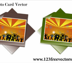 Photo Card Vector