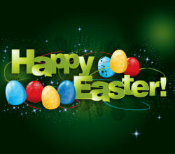Happy Easter Background Vector Design