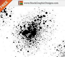 Paint Splatter Free Vector Illustration