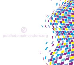 Vector Abstract Wavy Tiles Background Design