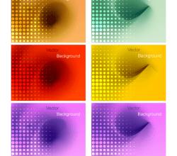 Vector Abstract Gradient Mesh Background
