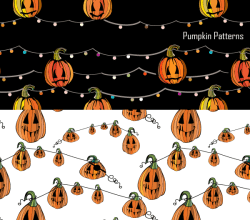 Halloween Pumpkin Vector and Photoshop Pattern