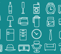 Minimal Retro Icons Free Vector Pack