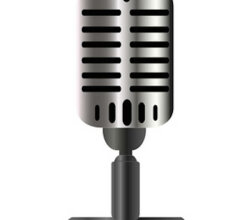 Vintage Microphone Vector Graphics