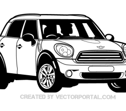 Mini Cooper Car Vector