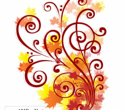 Free Autumn Swirl Vector