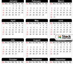 2014 Free Vector Calendar