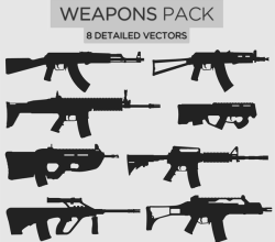 Vector Weapons Illustrator Pack-1