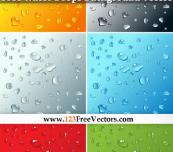 Free Water Drops Background Vector