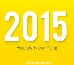 Happy New Year 2015 Vector Greeting Card Design