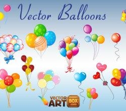 Vector Clip Art Balloons