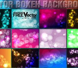 Bokeh Backgrounds Design Vector
