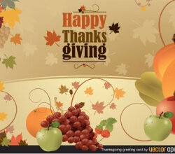 Thanksgiving Greeting Card Vector Illustration