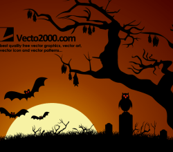 Halloween Haunted Dark Nights Background Vector