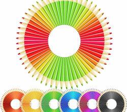 Free Colored Pencils Vector