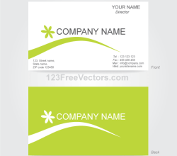 Business Card Template Illustrator