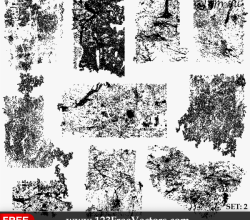 Grunge Texture Illustrator Set-2