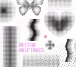 Dotted Halftones Vector