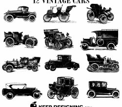 Old Vintage Car Vectors Free