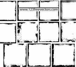 Grunge Photo Frames Vector