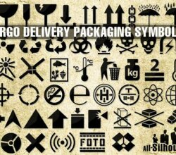 Vector Cargo Delivery Packaging Symbols