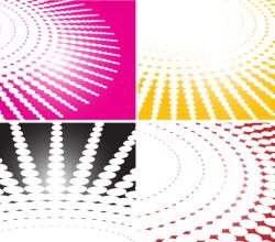 Spiral Halftone Background Vector Illustration