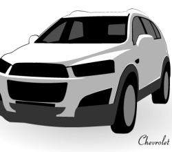 Chevrolet Captiva Vector Image