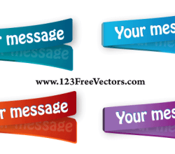 Multi Colored Stickers Vector
