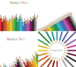 Vector Colorful Drawing Pencils