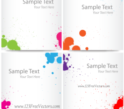 Colorful Ink Splash Banner Free Vector Images
