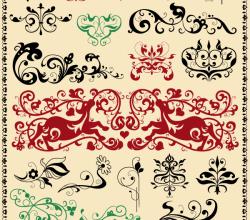 Vector Floral Ornaments Design