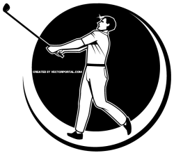 Golfer Vector Graphics